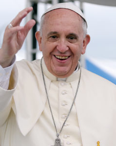 Image: Pope Francis, smiling