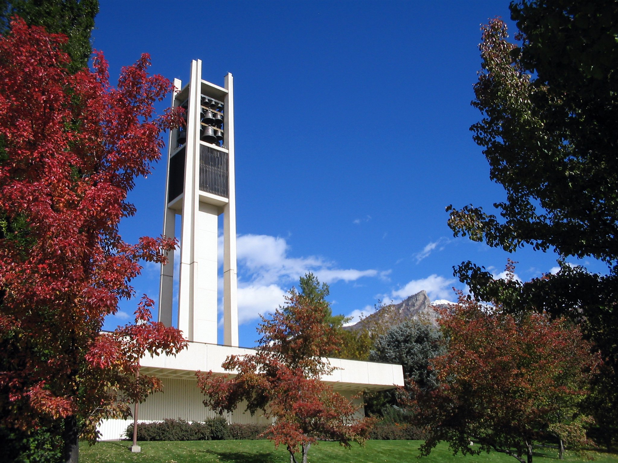 The Clarillon bell tower on BYU's campus