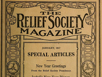 Cover of the Relief Society Magazine, dated January 1917.