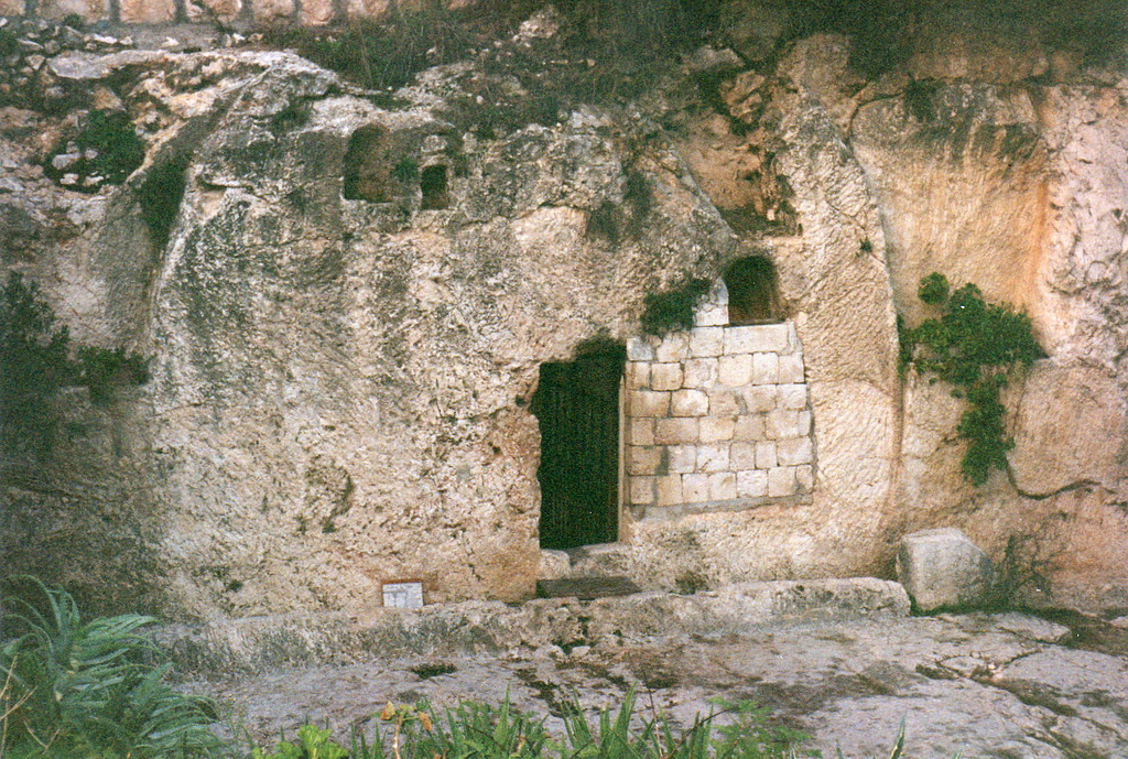 The Garden Tomb in Jerusalem, believed by many to be the garden and sepulcher of Joseph of Arimathea, and therefore a possible site of the resurrection of Jesus.